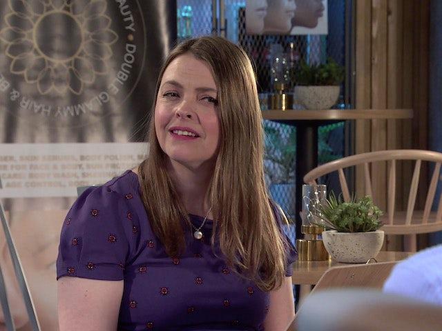 Tracy on Coronation Street on June 21, 2021