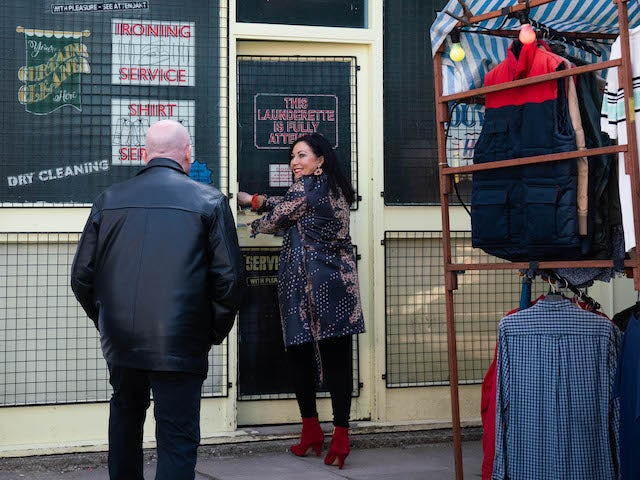 Phil and Kat on the second episode of EastEnders on June 16, 2021