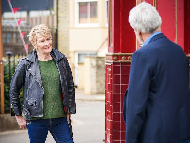 Shirley on the second episode of EastEnders on June 16, 2021