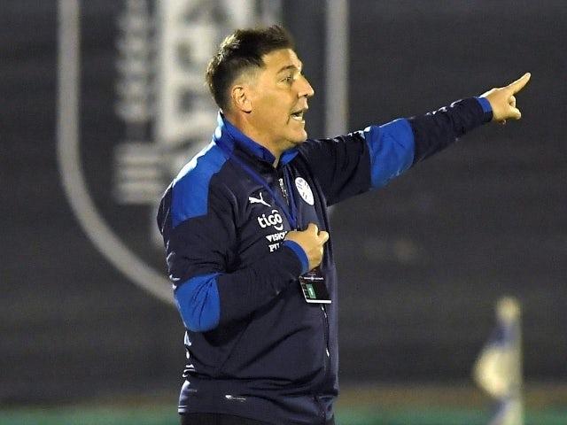El técnico de Paraguay Eduardo Perizzo durante el partido del 3 de junio de 2021