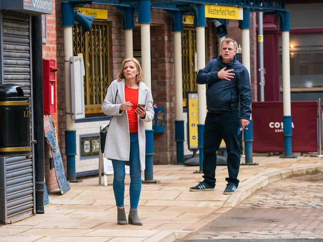 Leanne and Steve on Coronation Street on June 20, 2021
