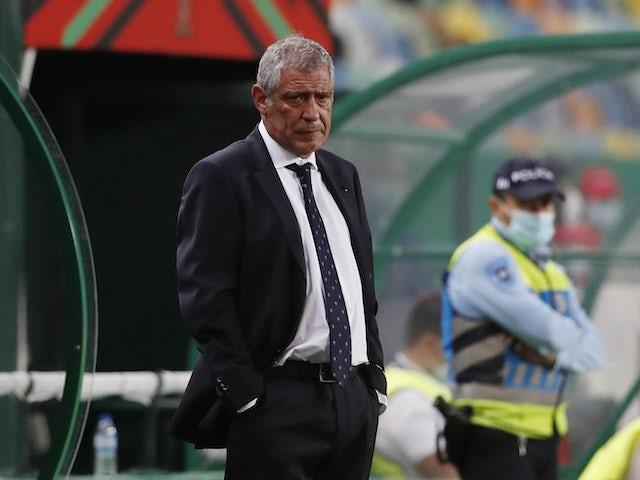 Portugal's head coach Fernando Santos reacts on June 9, 2021