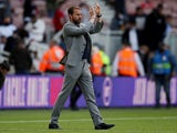 England manager Gareth Southgate applauds fans after the match on June 6, 2021