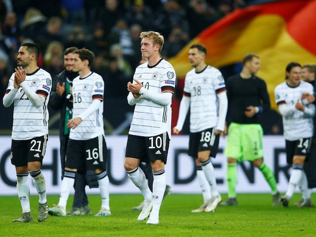 German players celebrate qualifying for Euro 2020