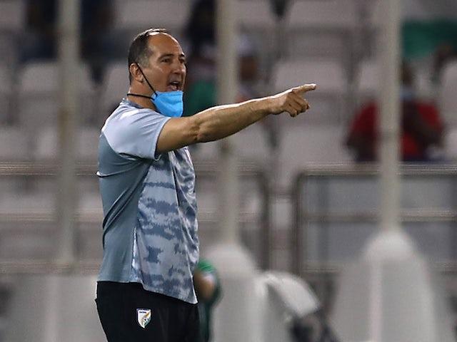 India's coach Igor Stimac reacts on June 3, 2021