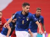 Jorginho pictured for Italy in November 2020