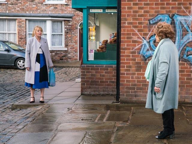 Jenny and Rita on Coronation Street on June 23, 2021