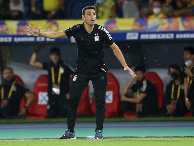 Argentina coach Lionel Scaloni after the match on June 8, 2021