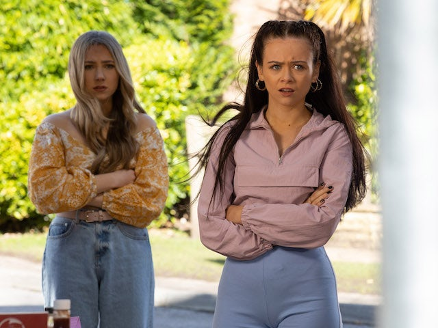 Juliet and Peri on Hollyoaks on June 14, 2021
