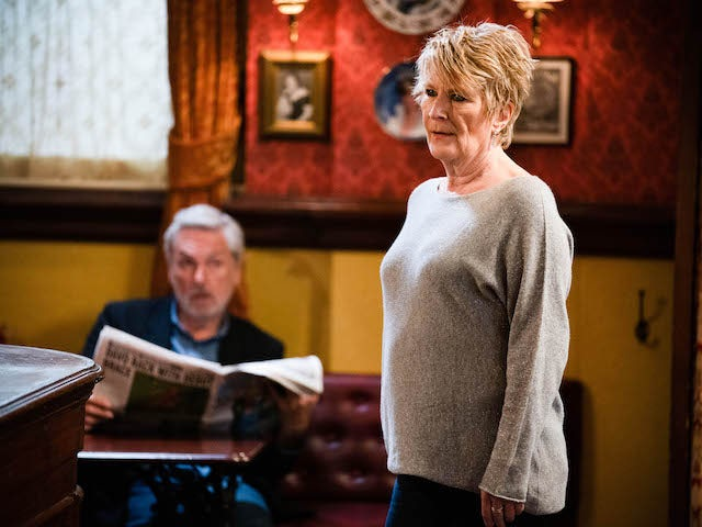 Rocky and Shirley on the first episode of EastEnders on June 16, 2021