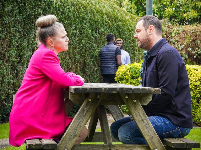 Linda and Mick on the second episode of EastEnders on June 15, 2021