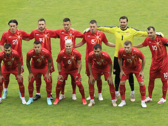 North Macedonia players pictured on June 1, 2021