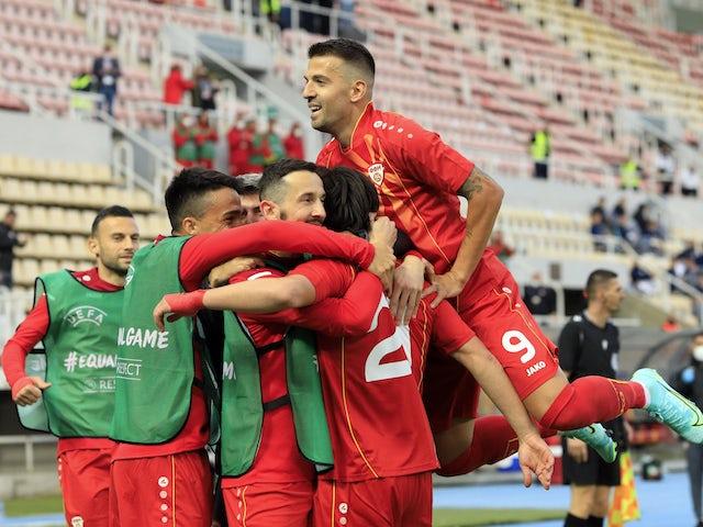 Elif Elmas din Macedonia de Nord și-a sărbătorit primul gol împreună cu coechipierii pe 1 iunie 2021