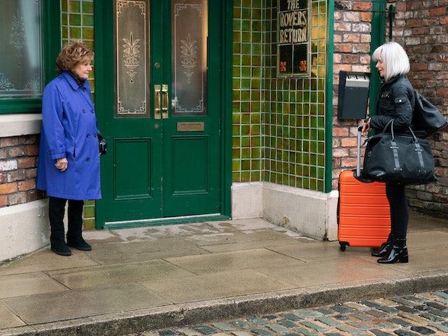 Rita and Sharon on Coronation Street on June 25, 2021