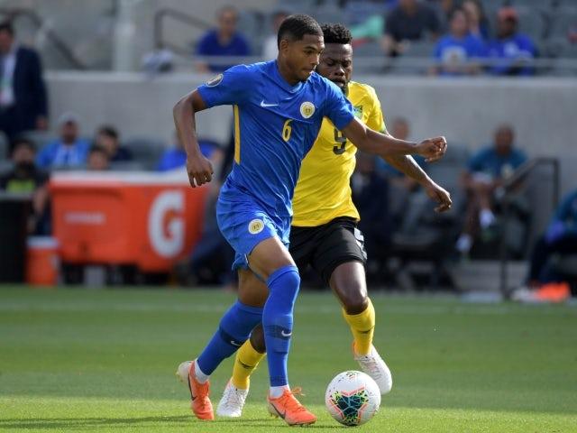 Curacao midfielder Michael Maria on ball in 2019