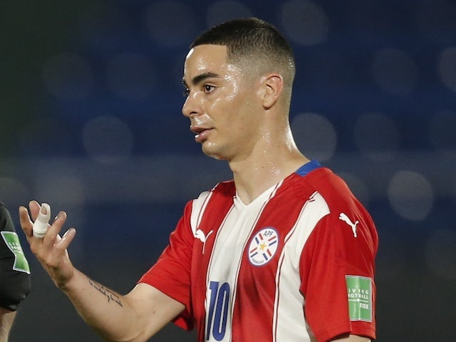 Miguel Almiron pictured for Paraguay on June 9, 2021
