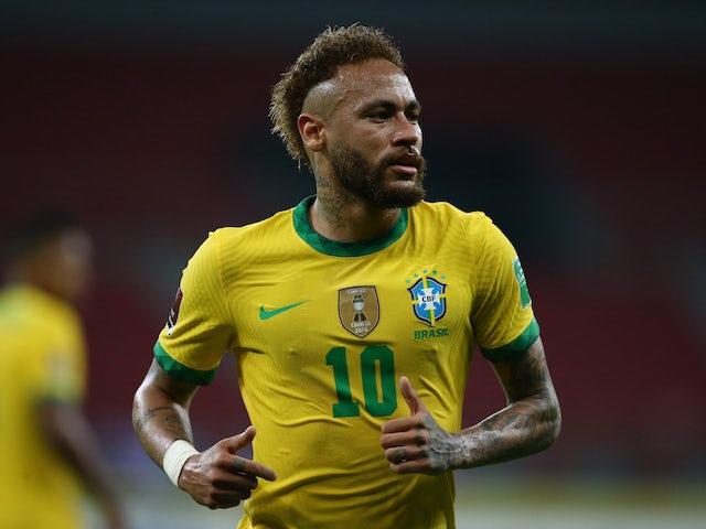 Neymar pictured for Brazil on June 5, 2021