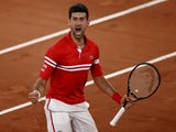 Novak Djokovic pictured at the French Open on June 9, 2021
