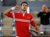 Novak Djokovic reacts during his semi-final match against Rafael Nadal at the French Open on June 11, 2021