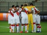 Peru players pictured in November 2020