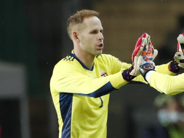 Peter Gulacsi pictured in action for Hungary on June 8, 2021