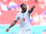 England attacker Raheem Sterling during the Euro 2020 clash with Croatia on June 13, 2021