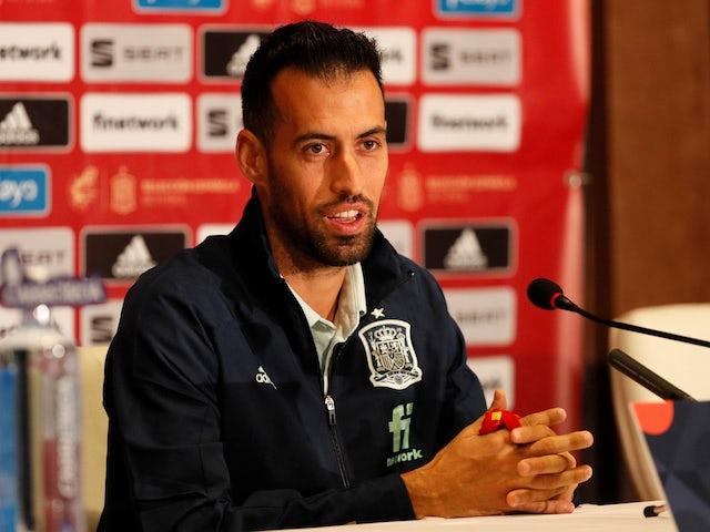 Una foto del español Sergio Busquets en octubre de 2020
