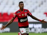 Flamengo's Bruno Henrique celebrates scoring their first goal on June 13, 2021