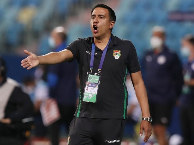 Bolivia manager Cesar Farias reacts on June 14, 2021