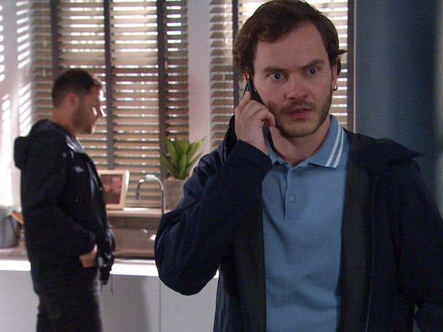 Aaron and Ben on the second episode of Emmerdale on July 1, 2021