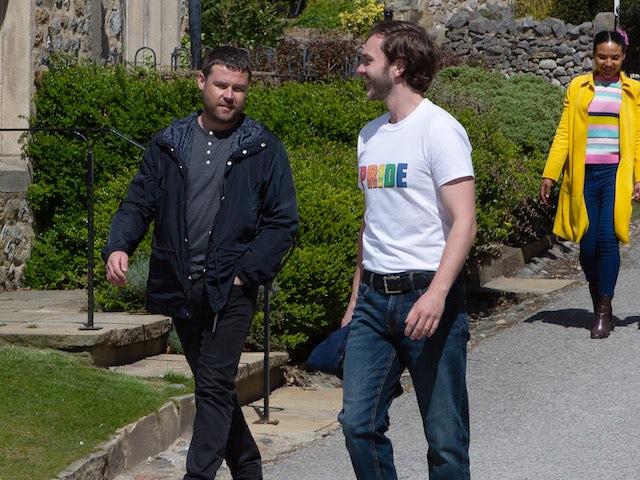 Aaron and Ben on Emmerdale on June 30, 2021