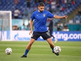 Domenico Berardi pictured for Italy on June 16, 2021