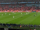 England and Scotland take the knee ahead of kickoff at Euro 2020 on June 18, 2021