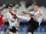 Argentina's Giovani Lo Celso in action at the Copa America on June 14, 2021