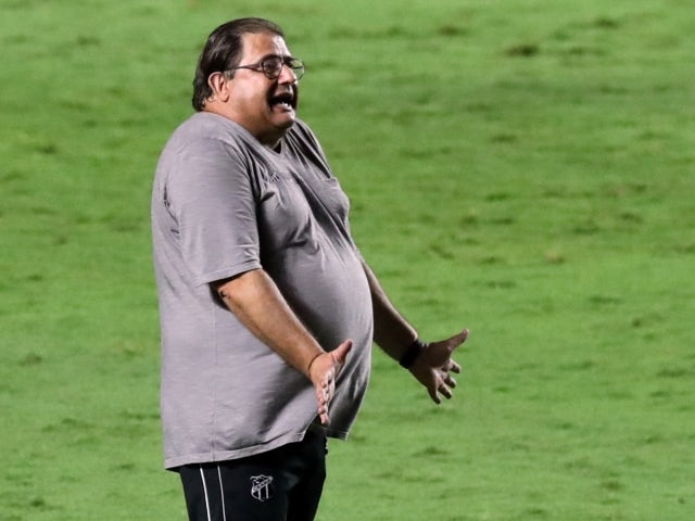 Ceara coach Guto Ferreira pictured during a match on February 10, 2021
