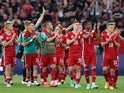 Hungary players applaud fans after the match on June 15, 2021