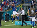 Italy's Matteo Pessina celebrates scoring their first goal against Wales at Euro 2020 on June 20, 2021