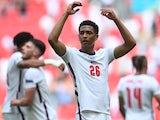 England's Jude Bellingham celebrates after the match on June 13, 2021