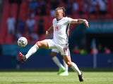 England's Kalvin Phillips in action against Croatia at Euro 2020 on June 13, 2021