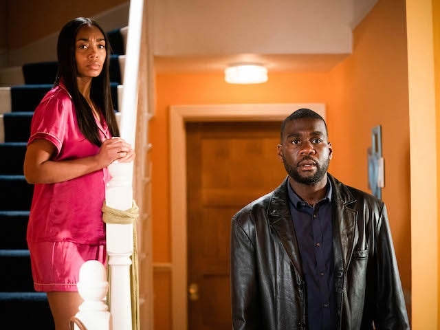 Isaac and Chelsea on EastEnders on June 24, 2021