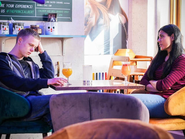 Bobby and Iqra on EastEnders on June 25, 2021