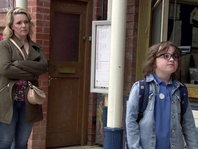 Natasha and Sam on the second episode of Coronation Street on June 28, 2021