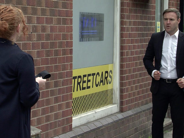 Fiz and Tyrone on the first episode of Coronation Street on June 30, 2021