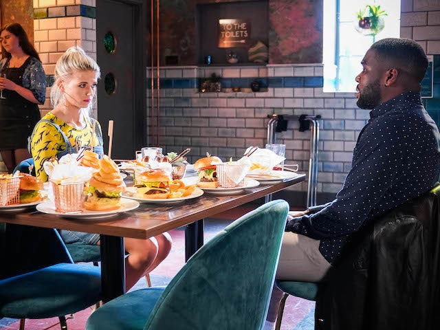 Isaac and Lola on EastEnders on June 21, 2021