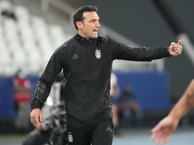 Argentina manager Lionel Scaloni on June 14, 2021