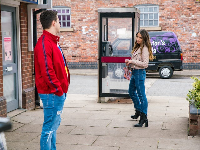 Ryan and Daisy on the second episode of Coronation Street on June 30, 2021