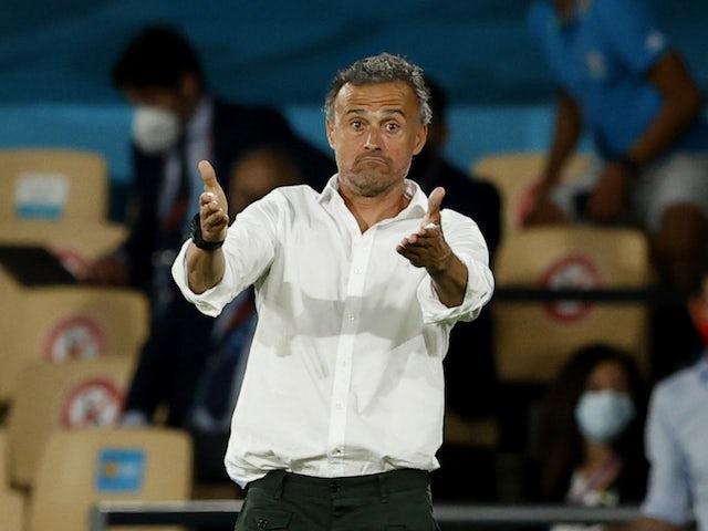 Una foto del técnico español Luis Enrique el 14 de junio de 2021