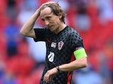 Croatia's Luka Modric reacts after the match on June 13, 2021