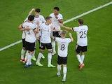 Germany's Kai Havertz celebrates scoring against Portugal at Euro 2020 on June 19, 2021