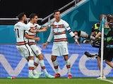 Cristiano Ronaldo celebrates scoring for Portugal against Hungary at Euro 2020 on June 15, 2021